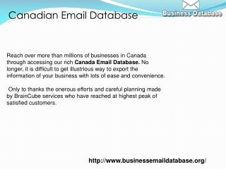 Canadian Email Database