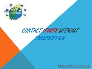 Search Contact Lenses without Prescription Online