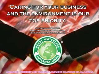 Pearl waterless is a environment freindly products