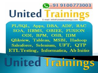 PL/SQL Online Training | Oracle PL/SQL Online Training | United Trainings