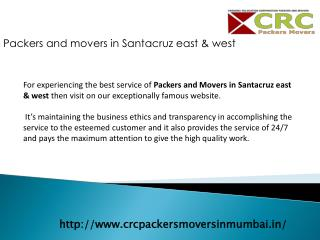 Packers And Movers In Santacruz East & West