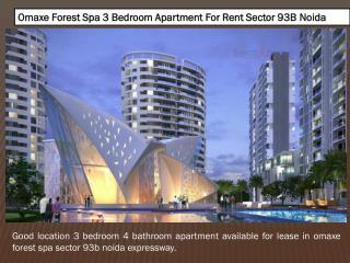 Omaxe Forest Spa Sector 93B Noida Expressway
