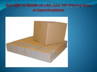 Best Offer on Bundle 15 x 85L Cube 440 Shipping Boxes at Supercheapboxes