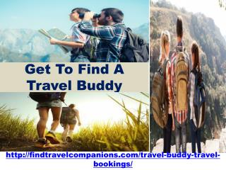 Get To Find A Travel Buddy