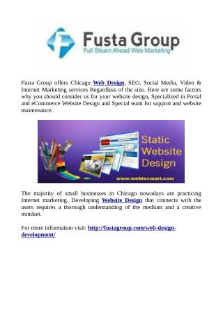 Best Sevices For Website Design At Fusta Group