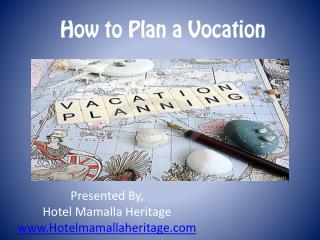 How to Plan a Vocation