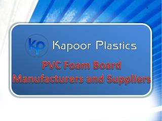 PVC Foam Board Manufacturers and Suppliers