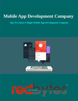 Tips To Choose The Right Mobile App Development Company