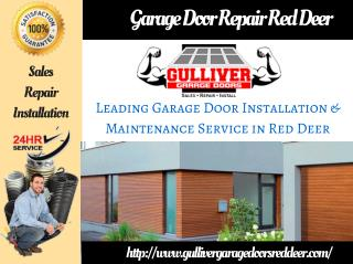 Red Deer Garage Door Repair and Installation Service