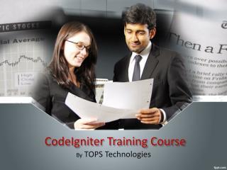 CodeIgniter Course, CodeIgniter Training Institute