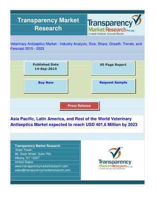 Iodine and Iodophors Lead APAC, LATAM, and RoW Veterinary Antiseptics Market
