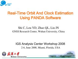 Real-Time Orbit And Clock Estimation Using PANDA Software