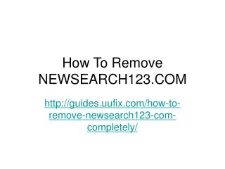 How to remove newsearch123.com