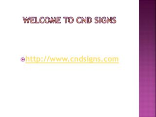 Cnd Signs - Sign and Banner Printing - Minority Supplier Development