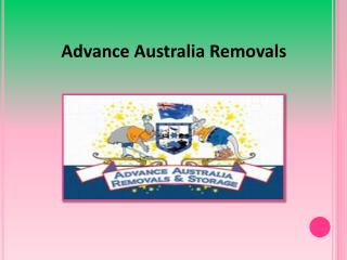 Removalists Melbourne to Perth | Advance Australia Removals