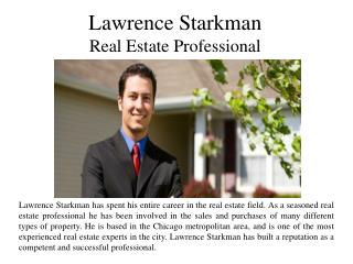 Lawrence Starkman: Real Estate Professional
