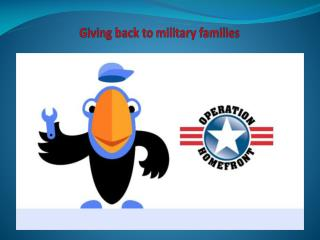 Giving back to military families
