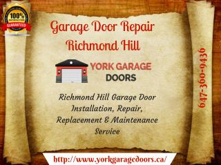 Affordable Garage Door Installation & Repair Service in Richmond Hill