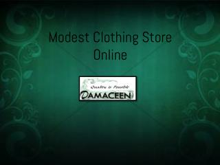 Modest Clothing Store Online
