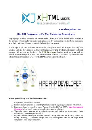 Hire PHP Developers – For Max Outsourcing Conveniences