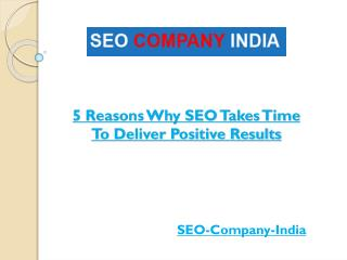 5 Reasons Why SEO Takes Time To Deliver Positive Results