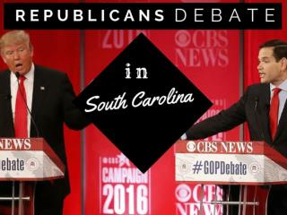 Republicans debate in South Carolina