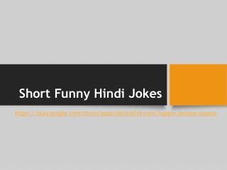 Short Funny Hindi Jokes
