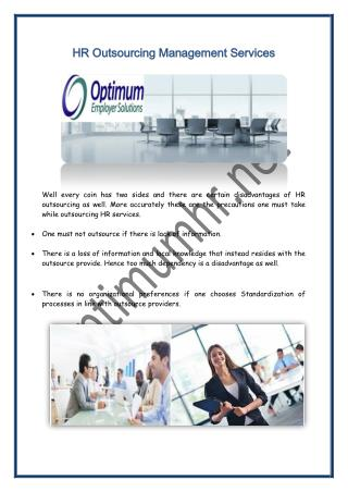 HR Outsourcing Management Services