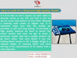 Buy Superior Quality Beach Towels in UK