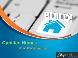 Cost Effective Home Renovation Tips