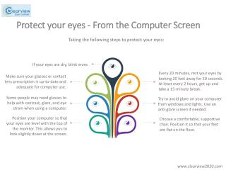Protect your eyes from the computer screen