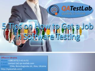 5 Tips on How to Get a Job in Software Testing