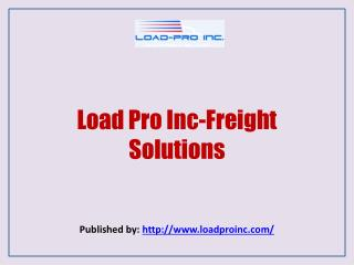 Load Pro Inc-Freight Solutions