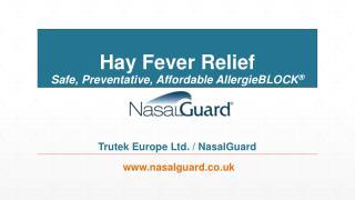 NasalGuard UK Hay Fever Relief