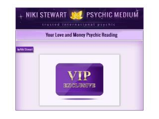 Your Love and Money Psychic reading by Niki Stewart