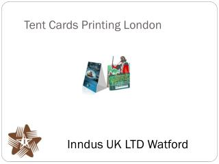 Tent Cards Printing London
