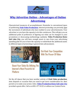 Why Advertise Online - Advantages of Online Advertising