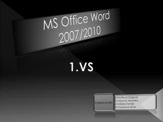 MS Office Word  2007/2010