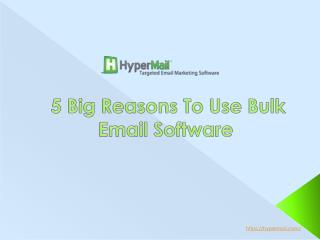 5 Big Reasons To Use Bulk Email Software