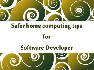 Safer home computing tips for Software Developer