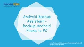 Android Backup Assistant-Backup Android Phone to Pc