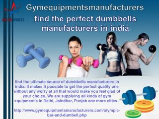 find the perfect dumbbells manufacturers in india