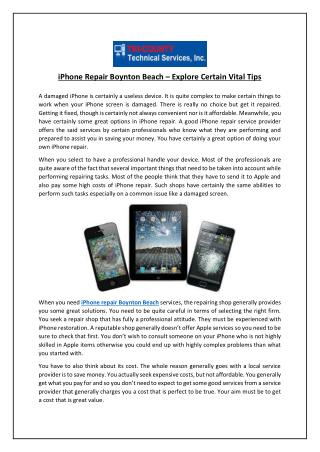 iPhone Repair Boynton Beach – Explore Certain Vital Tips