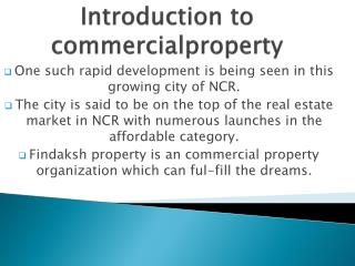 Best way to invest in commercial property india