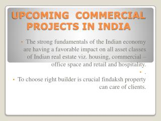How to find best commercial property in India