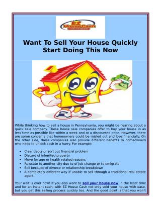 Sell Your House Now In Philly At Best Cost