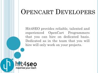 Hire Opencart Developers