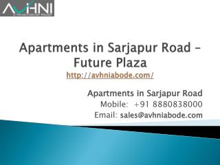 Residential Apartments in Sarjapur Road