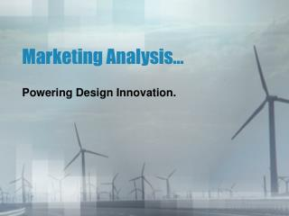 Marketing Analysis…