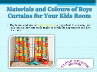 Materials and Colours of Boys Curtains for Your Kids Room